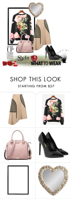 """""""shein"""" by mediva-284 ❤ liked on Polyvore featuring TIBI, Yves Saint Laurent, Bomedo and Gallery"""
