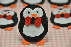 Set of 6pcs handmade felt penguin--black (FT901). $5.89, via Etsy.