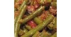 Egyptian Green Bean stew with rice