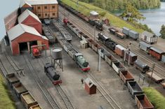 scale 00 gauge Ackthorpe is the Southampton Model Railway Society's latest OO gauge layout. It represents a complete break from Society tradition in not being based on Southern Railway o… Diorama, Model Railway Track Plans, N Scale Trains, Hobby Trains, Southern Railways, Model Train Layouts, Model Trains, Scale Models, Scenery