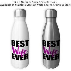 Best Wife Ever, Coffee Mug, Water Bottle, Travel Mug, Christmas Gifts, Gifts For Her, Anniversary Gift, Mothers Day, Wife Gift