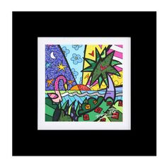 OPEN EDITION DIGITAL PRINT - REAL (FLAMINGO AND PALM TREE)