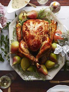 Pear-Thyme Brined Turkeygoodhousemag