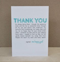 Valentine Card Birthday Mothers Day Fathers Love Teal Green Father Mother Daughter Sister Mom Mum