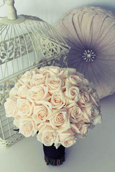 #White #Rose #wedding bouquet