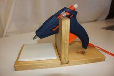 Crafter / Floral Hot Glue Gun Holder / Stand Hand by montellopnds