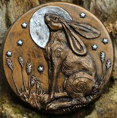 Moonlit is a hand made moon gazing hare sculpture by Kathleen Minton. Rabbit Sculpture, Wood Sculpture, Metal Sculptures, Abstract Sculpture, Bronze Sculpture, Hare Illustration, Rabbit Art, Jack Rabbit, March Hare