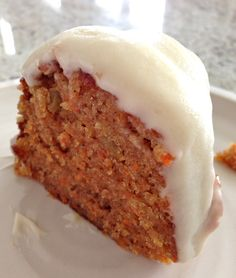 Carrot Bundt Cake with Cream Cheese Frosting Sounds really yummy but I'm going to use my almond glaze to drizzle on top instead of their frosting & some chopped pecans or walnuts on top would make a really nice presentation Cake Recipes Uk, Sweet Recipes, Baking Recipes, Dessert Recipes, Sweets Cake, Cupcake Cakes, Cupcakes, Just Desserts, Delicious Desserts