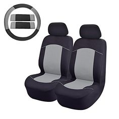 Front Car Seat Covers OMISS Seat Cover For SUV Truck or Van Grey *** Want additional info? Click on the image.