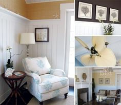 love the contrast of dark wall and crisp white paneling Den Ideas, Room Ideas, White Wall Paneling, Wall Finishes, Formal Living Rooms, Great Rooms, Wall Design, Design Elements, Crisp