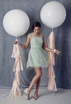 Dance the night away in a sparkling mint dress and comfy shoes! #ruche #shopruche