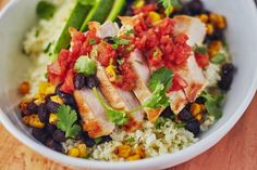 Recipe: Easy Cauliflower Rice Burrito Bowls — Quick and Easy Weeknight Dinners
