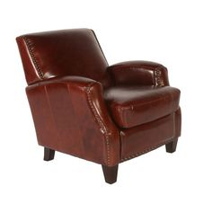 Lazzaro Leather Lawrence Club Chair Color: Brompton Chocolate