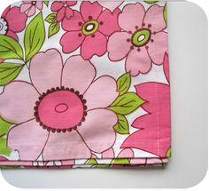 Pink fabric flower napkin