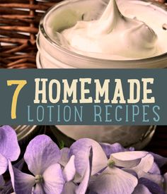 Check out this homemade lotion recipe. You can make it smell great with any type of extract you like. Time to get smooth!