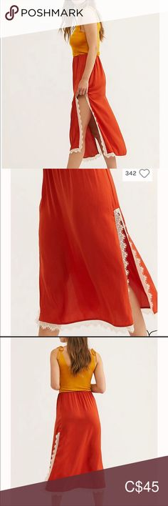 Shop Women's Free People Orange size S Midi at a discounted price at Poshmark. Description: Into you half slip. Brand new. Free People Skirt, Plus Fashion, Fashion Tips, Fashion Trends, Orange Color, Midi Skirt, Brand New, Skirts, Outfits