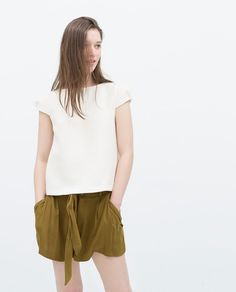 PLEATED SLEEVE TOP $39 -Tops-TRF | ZARA United States