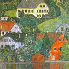 Gustav Klimt - Houses in Unterach at the Attersee