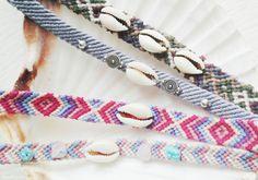 DIY Freundschaftsarmband mit Muscheln und Perlen verschönern  #kauri #cowrie #shell #muscheln #armband #diy #schmuck