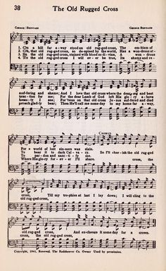 {CLICK ON IMAGE TO ENLARGE} Hymn - The Old Rugged Cross
