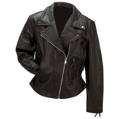 Rocky Mountain Hides™ Ladies' Solid Genuine Buffalo Leather Jacket #RockyMountainHides #Motorcycle