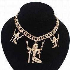 Egyptian Astonished Man Necklace