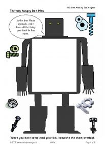 The very hungry iron man! - The Iron Man by Ted Hughes - Bookshelf - Search results - Search Iron Man Book, Iron Man Art, Iron Man Movie, Iron Man Ted Hughes, Science Fiction, Mr Roboto, World Book Day Ideas, Robot Theme, The Iron Giant