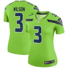 Women s Seattle Seahawks Russell Wilson Nike Neon Green Color Rush Legend  Jersey ee291ce20