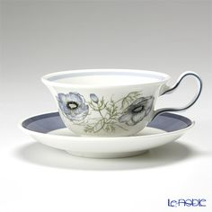 Wedgwood Glen mist tea cup and saucer (Peony)