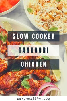 Slow Cooker Tandoori Chicken You don't need to build a tandoori oven to get tandoori chicken at home. Marinate your chicken overnight and then slowly steam them in your slow cooker for tender, delicious chicken. Slow Cooker Huhn, Slow Cooker Chicken, Slow Cooker Recipes, Crockpot Recipes, Chicken Recipes, Vegetable Recipes, Quick Healthy Meals, Healthy Food Options, Easy Weeknight Meals