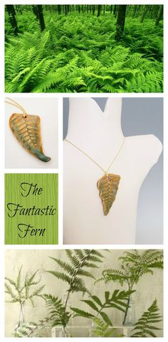 If you love ferns, now you can wear a handcrafted stoneware fern frond necklace.