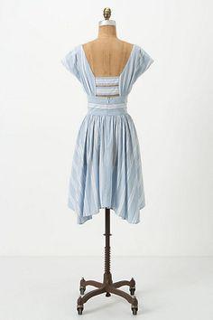 Anthropolgie Allegra Boatneck Dress Back