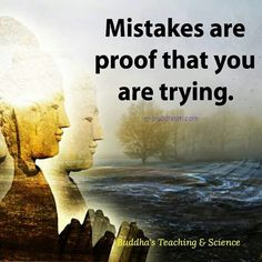 Mistakes are the proof that you are trying