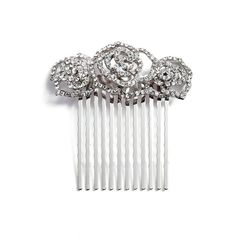 Women's Natasha Couture Rosie Posie Crystal Comb (52 BRL) ❤ liked on Polyvore featuring accessories, hair accessories, silver, crystal hair comb, hair comb, tasha hair accessories, sparkly hair accessories and crystal hair accessories