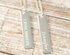 Roman Numeral Personalized Bridesmaid Jewelry, Custom Coordinates, Custom Name Initial 925 Sterling Silver