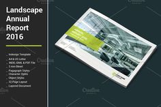 Landscape Annual Report 2016 by alimran24 on @creativemarket