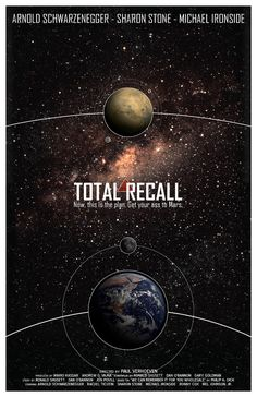 """Total Recall"" Sci-Fi Cult Movie Poster by ModernStylographer"