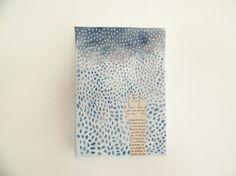 original mixed media art minimalist art painting by MessyBedStudio
