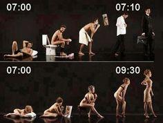 Getting ready: men vs. women...