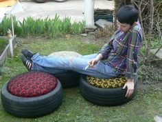 An even better idea for tires. Could stack two for a higher stool.