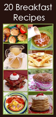 20 Breakfast Recipes {Jamie Cooks it Up} #breakfast #assortment
