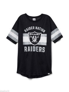 Victoria Secret PINK Oakland Raiders Nation Bling Jersey S may fit M L NWT NIP