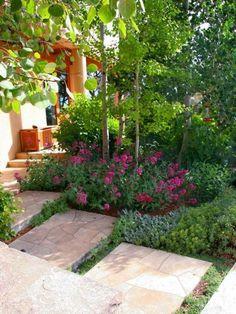 Good Gestaltung Gartenweg terracotta Fliesen verlegen