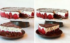 Tvarohová torta s jahodami a čokoládou   Kinga blogger