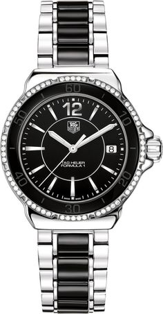 TAG Heuer Watch Formula 1 Watch #bezel-diamond #bracelet-strap-ceramic #brand-tag-heuer #case-material-steel #case-width-37mm #date-yes #delivery-timescale-call-us #dial-colour-black #gender-ladies #luxury #movement-quartz-battery #official-stockist-for-tag-heuer-watches #packaging-tag-heuer-watch-packaging #subcat-formula-1 #supplier-model-no-wah1212-ba0859 #warranty-tag-heuer-official-2-year-guarantee #water-resistant-200m