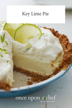 """lime pie Best-Ever Key Lime Pie - Once Upon a Chef Made with ordinary limes, this """"Key lime"""" pie tastes every bit as authentic as the real deal -- plus it's easier to make. Key Lime Desserts, Köstliche Desserts, Delicious Desserts, Dessert Recipes, Yummy Food, Best Key Lime Pie, Recipe For Key Lime Pie, Key Lime Tart, Authentic Key Lime Pie Recipe"""