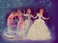 cinderella's transformation! Walt had said that this was his favorite piece of animation :)