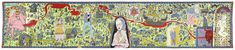 The Walthamstow Tapestry - Grayson Perry Grayson Perry Tapestry, Textiles, William Morris, Art World, Sculpture Art, Folk Art, Artsy, Weaving, The Incredibles