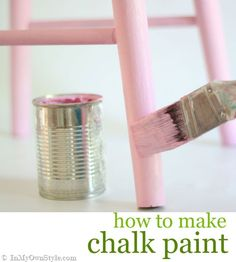 Chalk paint review and update on 3 different versions of  DIY chalk paint recipes. {InMyOwnStyle.com}