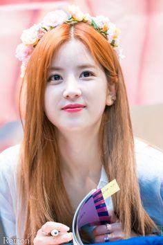 Apink - Chorong South Korean Girls, Korean Girl Groups, The Most Beautiful Girl, Beautiful Women, Pink Park, Panda Eyes, Photo Games, Fandom, Chubby Cheeks
